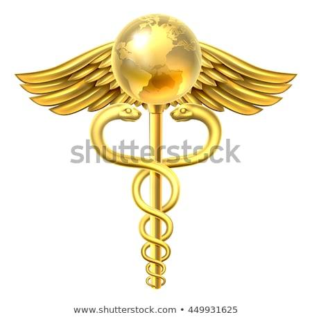 Caduceus Gold with Globe Stock photo © cteconsulting