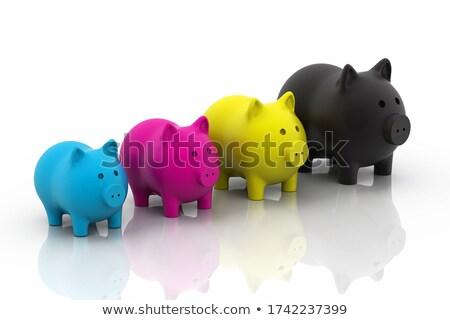 CMYK piggy bank Stock photo © 4designersart