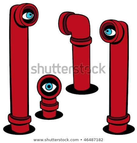 Espião conjunto isolado branco olhos projeto Foto stock © cteconsulting