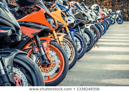 motosiklet · park · boş · otopark · hizmet · trafik - stok fotoğraf © Lekchangply