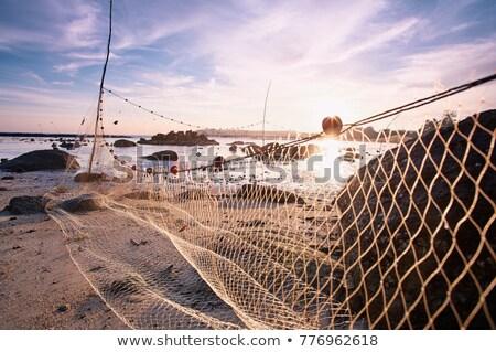 Fishing nets in port Stock photo © ifeelstock