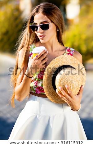 belo · topless · asiático · mulher · estômago · piso - foto stock © luminastock