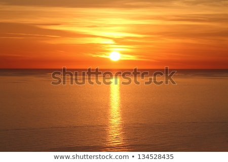 mediterranean sea sunset horizon orange sun Stock photo © lunamarina