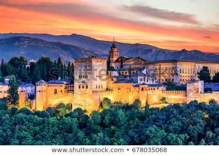 Испания подробность укрепление Альгамбра цвета архитектура Сток-фото © aladin66