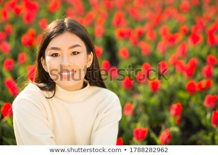 Close up portrait headshot of Asian woman  Stock photo © szefei