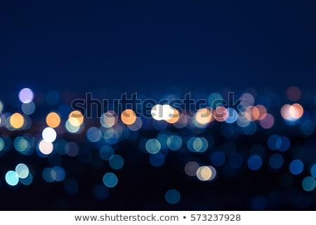 abstract blur city night lights blue sky stock photo © lunamarina