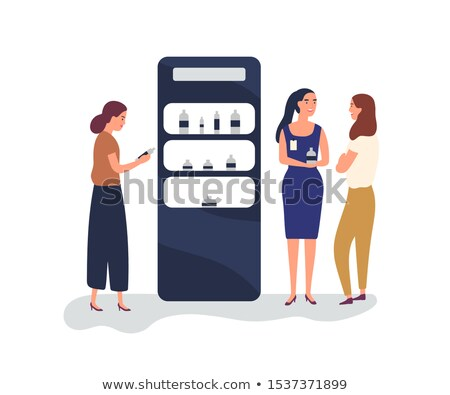 Saleswoman promoting business product Stock photo © stockyimages
