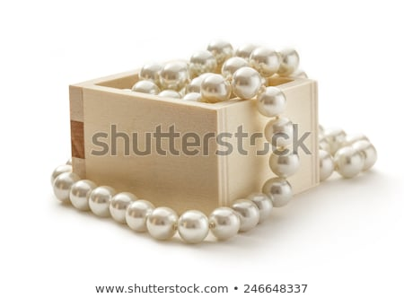 wooden chest with pearls stock photo © gavran333