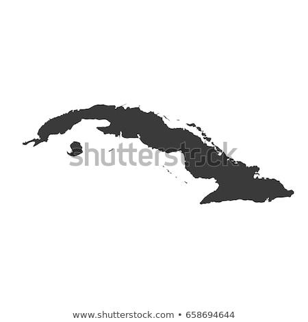 Negro Cuba mapa ciudad diseno tabla Foto stock © Volina