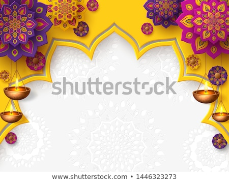 Beautiful diwali card vector illustration Stock photo © bharat