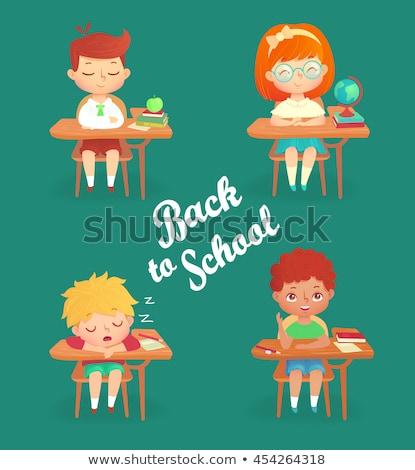 школьник спальный таблице устал изучения школы Сток-фото © get4net