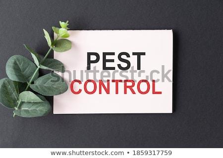 pest control sticky note stock photo © ivelin