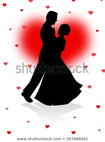 Rojo corazones baile nina primavera feliz Foto stock © cherju