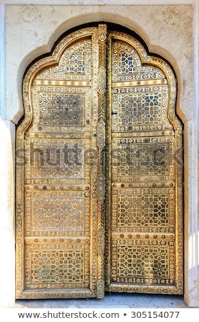 szél · palota · India · építkezés · ablak · Ázsia - stock fotó © faabi