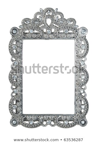 background frame with jewels of silver ornaments stock photo © yurkina