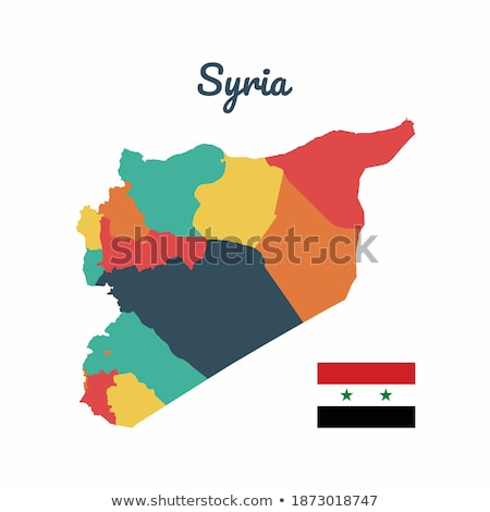 eps vector 10   map of syria with flag stock photo © istanbul2009