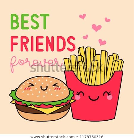 友達 永遠 幸せ バレンタインデー タイポグラフィ 文字 ストックフォト © bharat