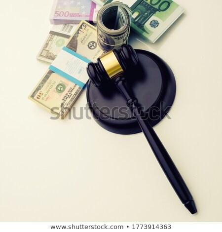 молоток · деньги · прав · американский · бумаги - Сток-фото © jirkaejc