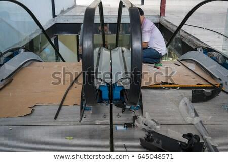 エスカレーター 階段 ダウン 光 都市 マシン ストックフォト © silkenphotography