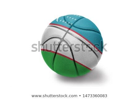 Kosárlabda labda Üzbegisztán zászló fehér eps Stock fotó © Istanbul2009