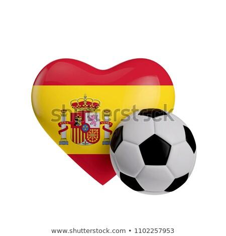 Испания Футбол сердце флаг футбола мяча Сток-фото © Krisdog