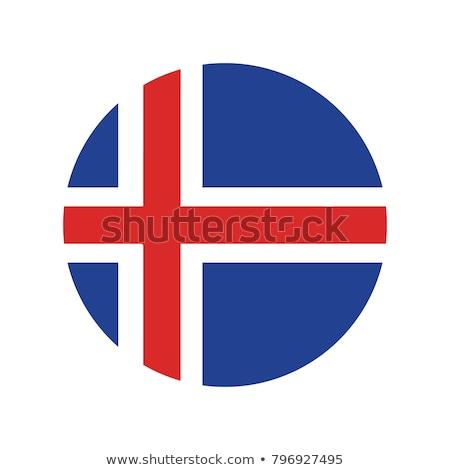iceland flag icon isolated on white background stock photo © zeffss