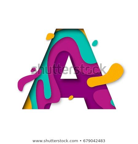 Alfabet witte letter i ontwerp onderwijs teken Stockfoto © Guru3D