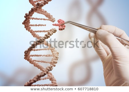 gén · terápia · robotikus · kéz · tart · kémcső - stock fotó © lightsource