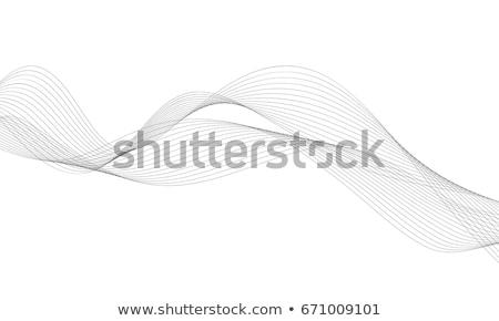 Onda sfondo arte nero wallpaper digitale Foto d'archivio © shawlinmohd