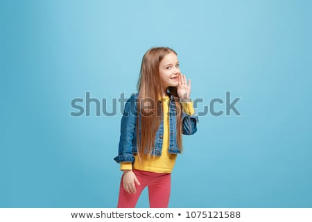 teens whispering secrets Stock photo © godfer