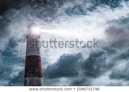 Lighthouse in the rain Stock photo © Kayco