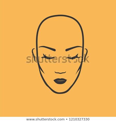 üstsüz kadın siluet örnek pembe Stok fotoğraf © lenm