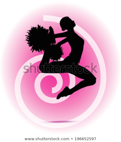 Funky cheerleader silhouette eps 10 fitness Foto d'archivio © Istanbul2009