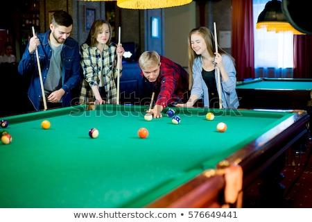 oynama · havuz · bilardo · masası · bilardo · eğlence - stok fotoğraf © jasminko