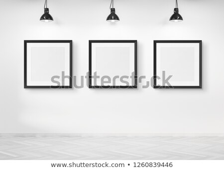 Three Square Posters hanging on the art gallery wall Stock photo © stevanovicigor