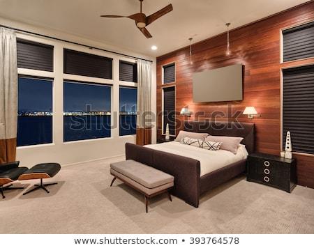 素朴な · ベッド · トスカーナ · ファーム · 家 · ホーム - ストックフォト © alexandre_zveiger