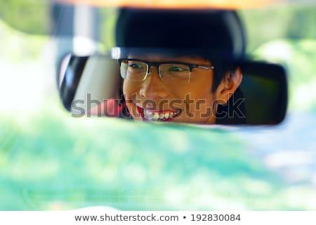 Ritratto felice asian uomo sede Foto d'archivio © deandrobot