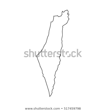 Silhouet kaart Israël teken witte opschrift Stockfoto © mayboro