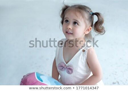 Cute девочку ждет кто-то что-то глядя Сток-фото © bubutu