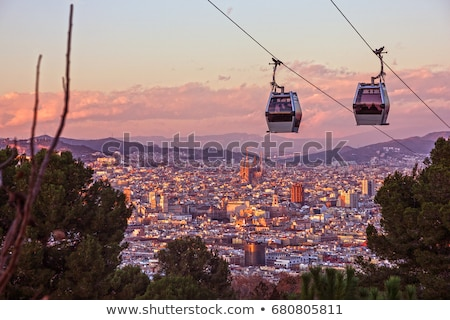 view of barcelona from montjuic stock photo © elxeneize