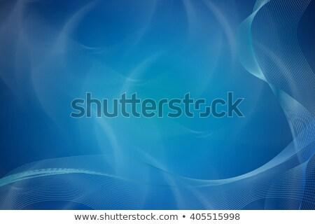 absztrakt · fényes · kék · hullámos · szalag · terv - stock fotó © saicle