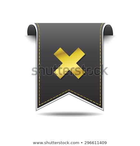 Multiply golden Vector Web Button Icon Set Stock photo © rizwanali3d