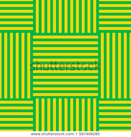 Bright and simple green and yellow stripes and squares pattern s Stock photo © Zebra-Finch