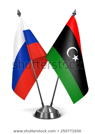 russia and libya   miniature flags stock photo © tashatuvango