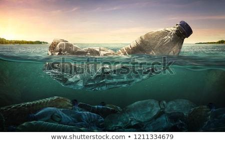 água plástico garrafa azul saúde fundo Foto stock © OleksandrO