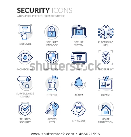 Security Colored Line Icons Stock photo © AnatolyM