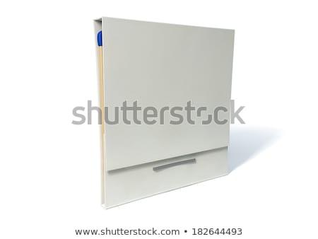 Branco caixa fósforos azul dicas pequeno Foto stock © backyardproductions