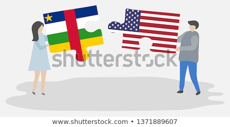USA and Central African Republic Flags in puzzle  Stock photo © Istanbul2009