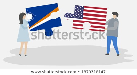 USA and Marshall Islands Flags in puzzle Stock photo © Istanbul2009