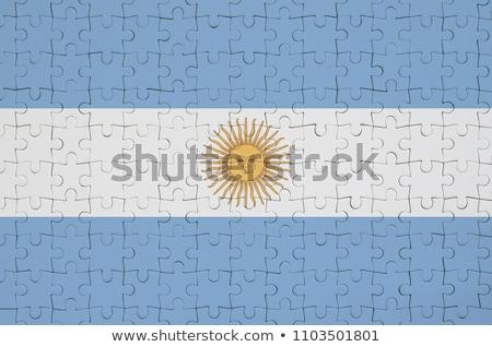Argentina banderas rompecabezas vector imagen aislado Foto stock © Istanbul2009